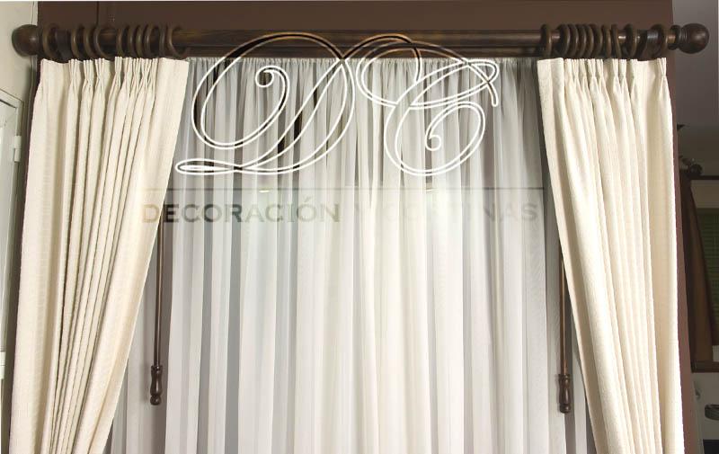 D c decoraci n y cortinas cortinas for Cortinas de argollas