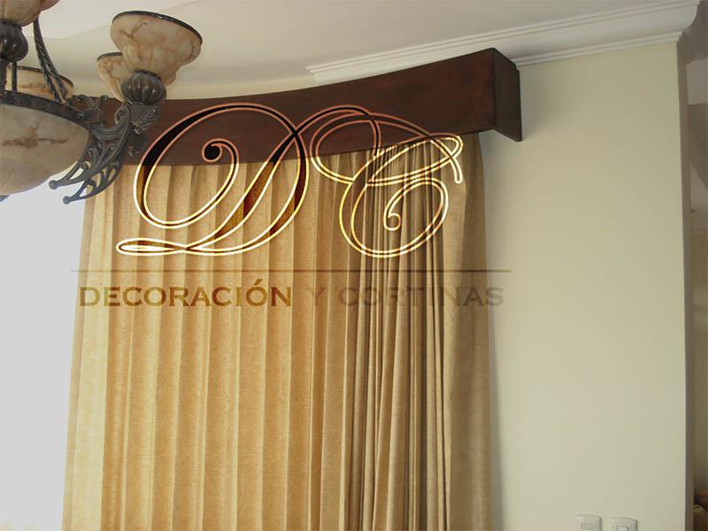 D c decoraci n y cortinas cenefas for Argollas con pinzas para cortinas